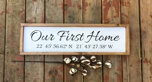 gifts for new apartment owners longitude latitude sign coordinates sign wood sign home decor