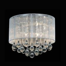 Crystal Flush Mount Ceiling Light Fixture by Brizzo Lighting Stores 14