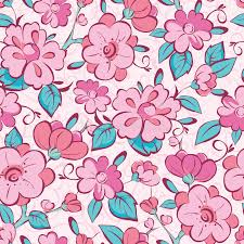 kimono repeat pattern vector pink blue kimono flowers seamless pattern stock vector
