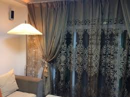 beautiful yarn patterned semi dark gold sheer curtains
