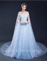 light blue dress fantastic gown the shoulder light blue tulle floral