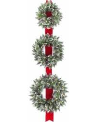 bargains on national tree company pre lit wreath door hang with