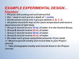 good experimental design keys to conducting a good experiment variables the things you