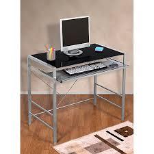 Computer Desk Walmart Mainstays Mainstays Glass Top Desk Multiple Colors Walmart Com