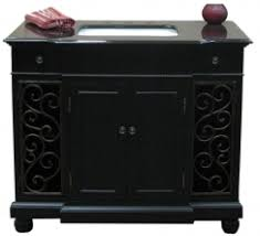 Black Bathroom Vanity With Sink by Distressed Espresso Black Granite Bathroom Vanity With Sink