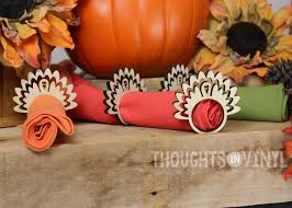 turkey napkin ring wooden turkey napkin rings thoughts in vinyl