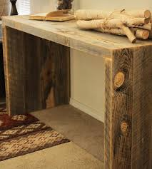 Wood Console Table Reclaimed Wood Console Table Home Furniture J W Atlas Wood