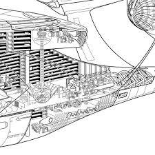new uss enterprise cutaway