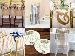 Table And Chair Covers 10 Adorably Fun Wedding Chair Signs U0026 Covers For Bride And Groom