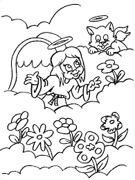 coloring picture of angel gabriel and mary coloring home