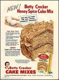 vintage spice cake 1953 betty crocker honey spice cake mix