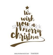 we wish you merry quote stock vector 754839526