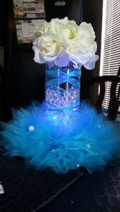 centerpieces for quinceanera without the poofy tulle bridal shower centerpieces