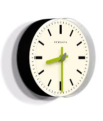 pill wall clock black u0026 lime modern minimalist clock