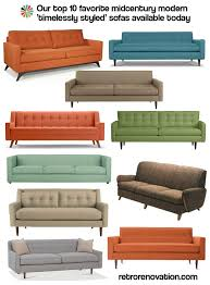 kate u0027s top 10 midcentury modern sofas available today retro