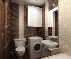 bathroom with toilet and shower in the yellow tile stock photo
