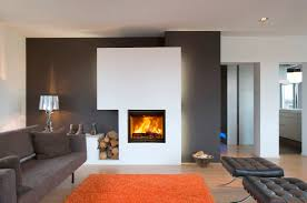 modern white and black modern fireplace with hearth design can be
