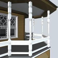 porch post 1 3d cgtrader