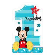 Mickey Mouse 1st Birthday Card Mickey Mouse Greeting Cards And Invitations Ebay