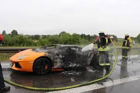 is lamborghini a german car lamborghini aventador burns to a crisp on german autobahn