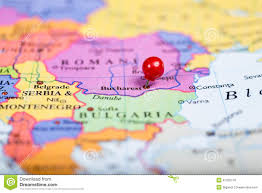 Map Of Romania Red Push Pin On Map Of Romania Stock Photo Image 47255118
