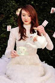 Hire A Wedding Dress Styled Shoot A Mad Hatter U0027s Tea Party With Vintage Wedding