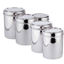 stainless steel kitchen canister living retro stainless steel storage canisters decorating clear