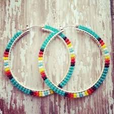 hoop beaded earrings beadwork ig brick stitch and cylinder