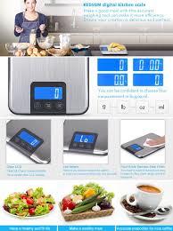 amazon com kedsum digital kitchen scale multifunction food scale