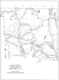 Los Angeles Freeway Map by California Division Of Highways District Maps Caltrans U2013 1947
