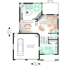 650 Square Feet Floor Plan Traditional Style House Plans Plan 5 650