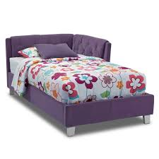 Jordan Twin Corner Bed Purple Value City Furniture - Value city furniture mattress
