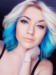 blonde and blue ombre hair idea i want this only in purple with