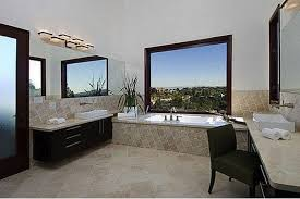 modern master bathroom design ideas teak wood framed wall mirror
