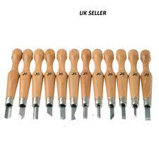 12pcs professional wood carving chisel tools set woodwork