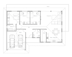 Simple Floor Plan by Small House Design With Three Bedrooms Ch225 Simple Floor Plan