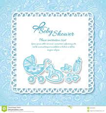 baby shower greeting card for baby boy stock vector image 42255205