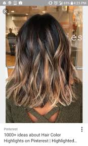 medium length hairstyles with color balayage streaked highlighted hair cosmetic craze pinterest