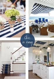 Hamptons Home Decor by Chic In Navy Hamptons Style Interiors Pinterest Coastal