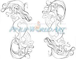 dual mermaid tattoo by nicolebrune on deviantart