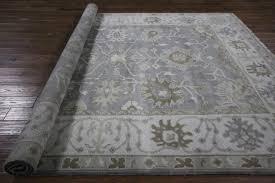 Ivory Wool Rug 8 X 10 New Oriental Hand Knotted Oushak Grey Ivory 8 U0027x10 U0027 Floral Wool