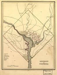 Map Of Washington Dc by 1835 Map Of Washington D C Ghosts Of Dc