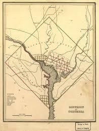 Map Washington Dc 1835 Map Of Washington D C Ghosts Of Dc