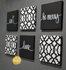 black and white trellis 6 pack wall art