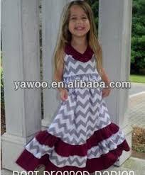 wholesaleblack chevron maxi petti dress children princess