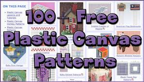 more and better free plastic canvas patterns allcrafts free