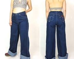 High Waist Bell Bottom Jeans Wide Leg Jeans Etsy
