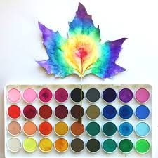 how to make watercolor leaf art u2022 color made happy