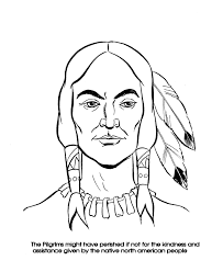 the thanksgiving coloring page sheets squanto coloring