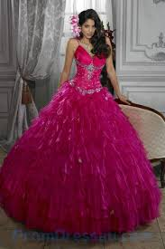 quinceanera dresses with straps buy tailor made spaghetti straps beaded organza hot pink